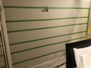 How to paint stripes on wall